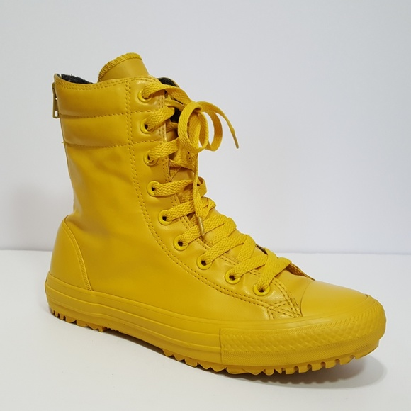 e4046e057de9 Converse Shoes - Converse Yellow All Star Hi-Rise Boots Women s 9